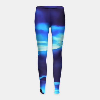 Thumbnail image of cloudy burning sky reacpth Girl's leggings, Live Heroes