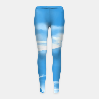Thumbnail image of cloudy burning sky reacwb Girl's leggings, Live Heroes
