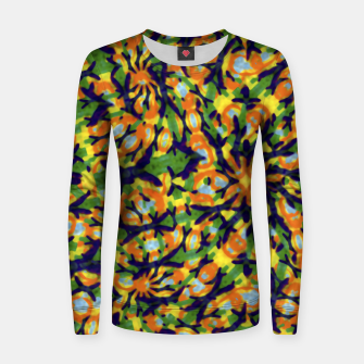 Thumbnail image of Multicolored Camo Print Pattern Women sweater, Live Heroes