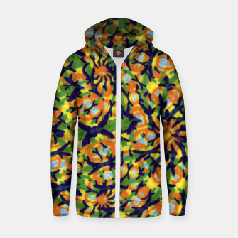 Thumbnail image of Multicolored Camo Print Pattern Zip up hoodie, Live Heroes