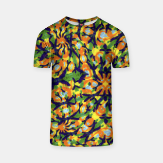 Thumbnail image of Multicolored Camo Print Pattern T-shirt, Live Heroes