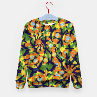 Thumbnail image of Multicolored Camo Print Pattern Kid's sweater, Live Heroes