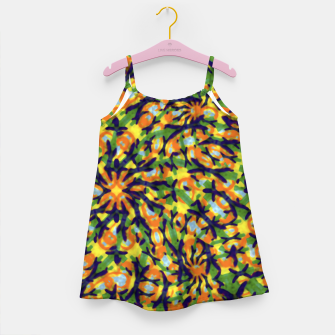 Thumbnail image of Multicolored Camo Print Pattern Girl's dress, Live Heroes