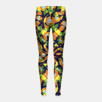 Thumbnail image of Multicolored Camo Print Pattern Girl's leggings, Live Heroes