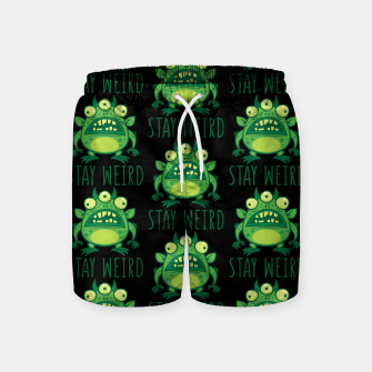 Thumbnail image of Stay Weird Alien Monster Swim Shorts, Live Heroes