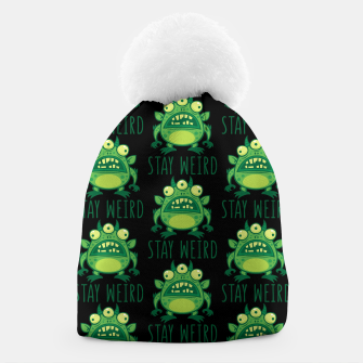 Thumbnail image of Stay Weird Alien Monster Beanie, Live Heroes
