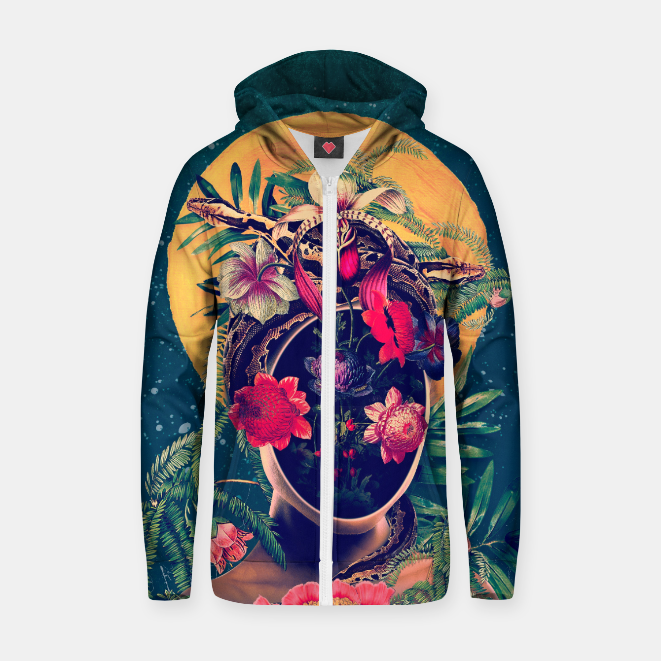 Image of Oxygen Zip up hoodie - Live Heroes