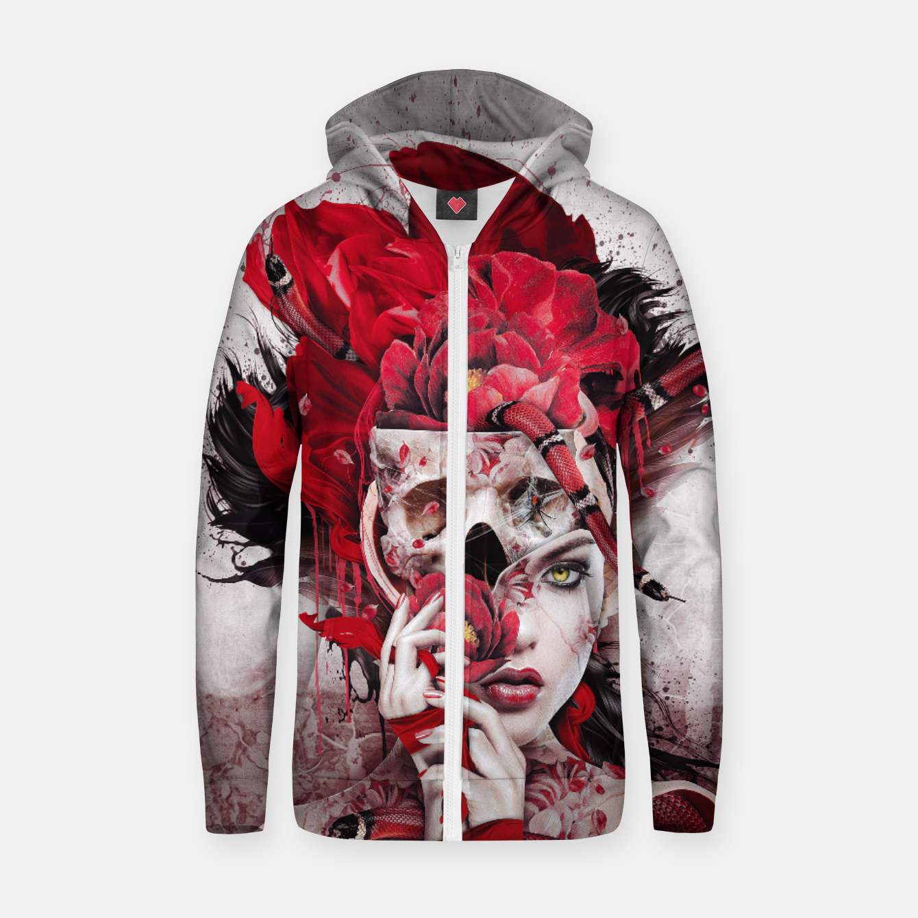 Image of Poisonous Flowers Zip up hoodie - Live Heroes