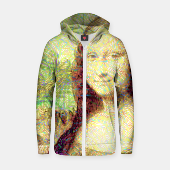 Thumbnail image of full colour mona lisa Zip up hoodie, Live Heroes