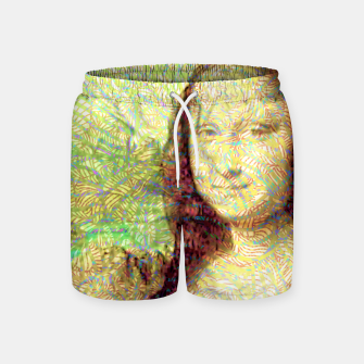 Thumbnail image of full colour mona lisa Swim Shorts, Live Heroes