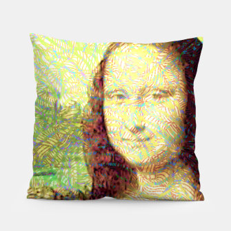 Thumbnail image of full colour mona lisa Pillow, Live Heroes