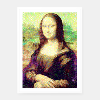 Thumbnail image of full colour mona lisa Framed poster, Live Heroes