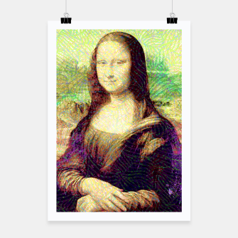 Thumbnail image of full colour mona lisa Poster, Live Heroes
