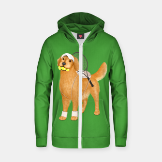 Thumbnail image of Ready for Tennis Practice Zip up hoodie, Live Heroes