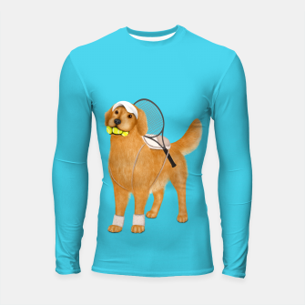 Thumbnail image of Ready for Tennis Practice Longsleeve rashguard , Live Heroes