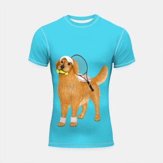 Thumbnail image of Ready for Tennis Practice Shortsleeve rashguard, Live Heroes