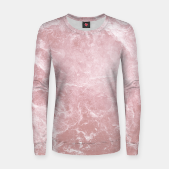 Thumbnail image of Enigmatic Blush Pink Marble #1 #decor #art Frauen sweatshirt, Live Heroes