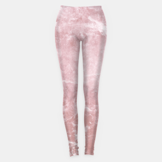 Thumbnail image of Enigmatic Blush Pink Marble #1 #decor #art Leggings, Live Heroes