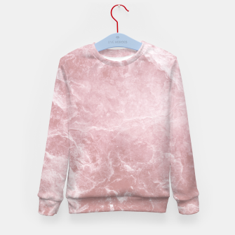 Thumbnail image of Enigmatic Blush Pink Marble #1 #decor #art Kindersweatshirt, Live Heroes