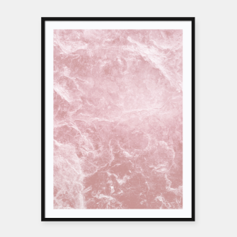 Thumbnail image of Enigmatic Blush Pink Marble #1 #decor #art Plakat mit rahmen, Live Heroes