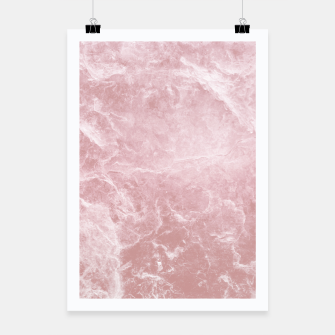 Thumbnail image of Enigmatic Blush Pink Marble #1 #decor #art Plakat, Live Heroes