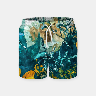 Thumbnail image of Dark & Floral Swim Shorts, Live Heroes