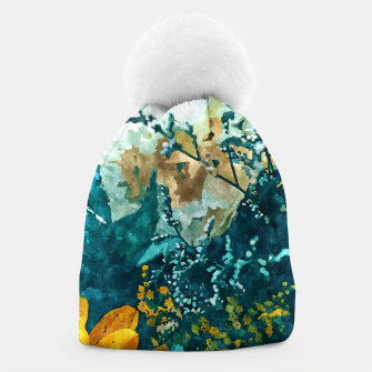 Thumbnail image of Dark & Floral Beanie, Live Heroes
