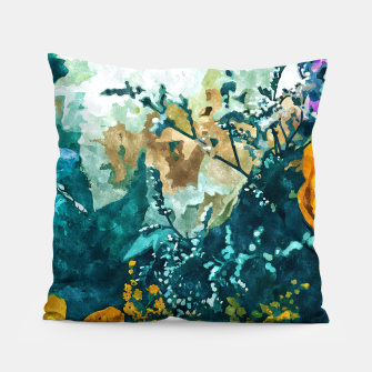 Thumbnail image of Dark & Floral Pillow, Live Heroes