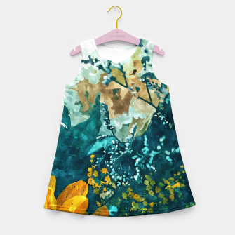 Dark & Floral Girl's summer dress thumbnail image