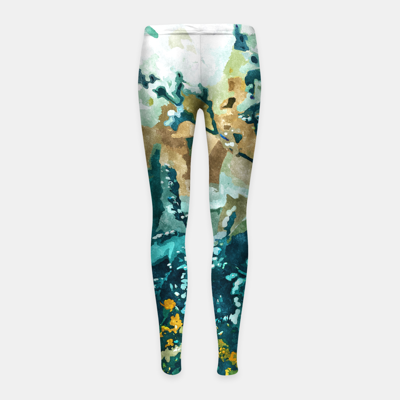Image of Dark & Floral Girl's leggings - Live Heroes