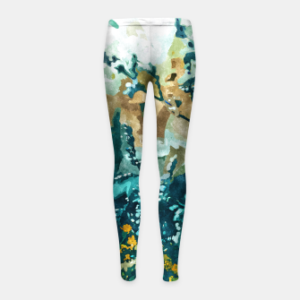 Thumbnail image of Dark & Floral Girl's leggings, Live Heroes