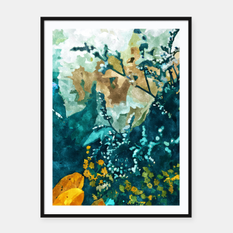 Thumbnail image of Dark & Floral Framed poster, Live Heroes