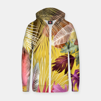 Thumbnail image of Tropical Foliage 07 Zip up hoodie, Live Heroes