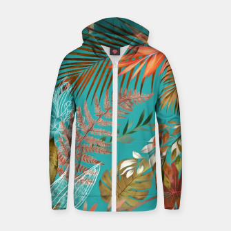 Thumbnail image of Tropical Foliage 08 Zip up hoodie, Live Heroes