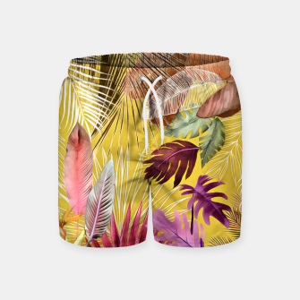 Thumbnail image of Tropical Foliage 07 Swim Shorts, Live Heroes