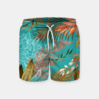Thumbnail image of Tropical Foliage 08 Swim Shorts, Live Heroes