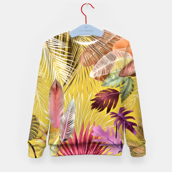 Thumbnail image of Tropical Foliage 07 Kid's sweater, Live Heroes