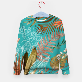 Thumbnail image of Tropical Foliage 08 Kid's sweater, Live Heroes