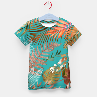 Thumbnail image of Tropical Foliage 08 Kid's t-shirt, Live Heroes