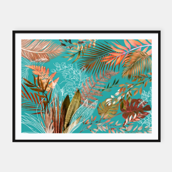 Thumbnail image of Tropical Foliage 08 Framed poster, Live Heroes