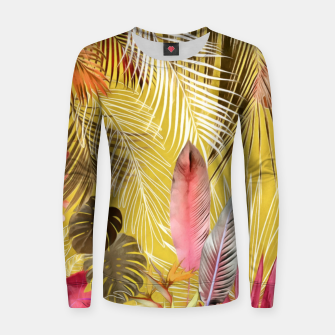 Thumbnail image of Tropical Foliage 07 Women sweater, Live Heroes