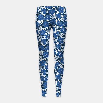 Thumbnail image of Hibiscus and Plumeria - Blue Leggings para niña, Live Heroes