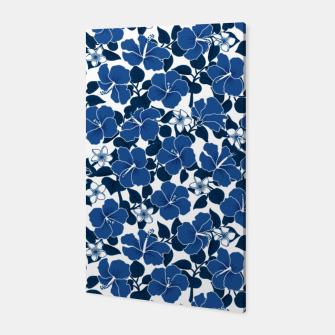 Thumbnail image of Hibiscus and Plumeria - Blue Canvas, Live Heroes