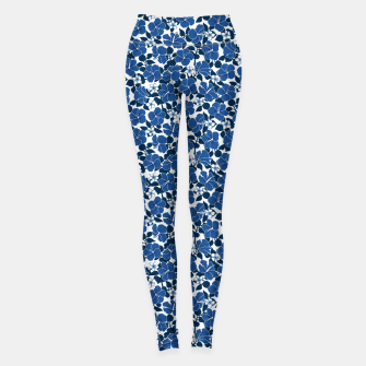 Thumbnail image of Hibiscus and Plumeria - Blue Leggings, Live Heroes