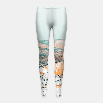 Thumbnail image of Travel Often Girl's leggings, Live Heroes