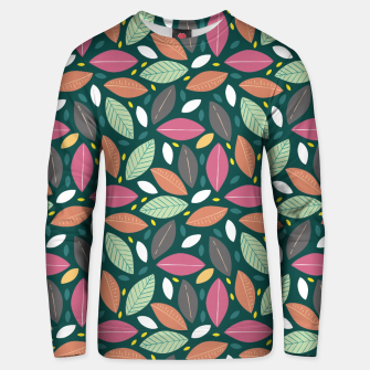 Thumbnail image of Leaves pattern Sudadera unisex, Live Heroes