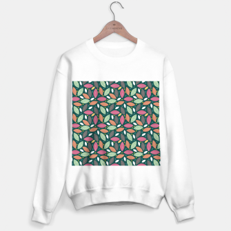 Thumbnail image of Leaves pattern Sudadera regular, Live Heroes