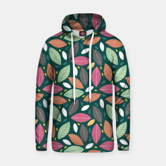 Thumbnail image of Leaves pattern Sudadera con capucha, Live Heroes