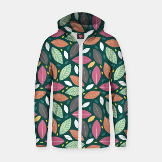 Thumbnail image of Leaves pattern Sudadera con capucha y cremallera , Live Heroes