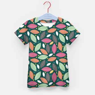 Thumbnail image of Leaves pattern Camiseta para niños, Live Heroes